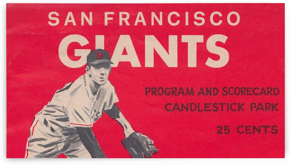 San Francisco Giants Candlestick Park Poster_Vintage Sports Poster Collection_Baseball Wall Decor by Row One Brand
