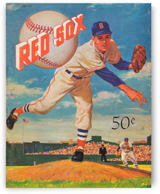 1959_Boston Red Sox_Baseball Yearbook_Poster_Vintage Baseball Art Print Reproductions by Row One Brand