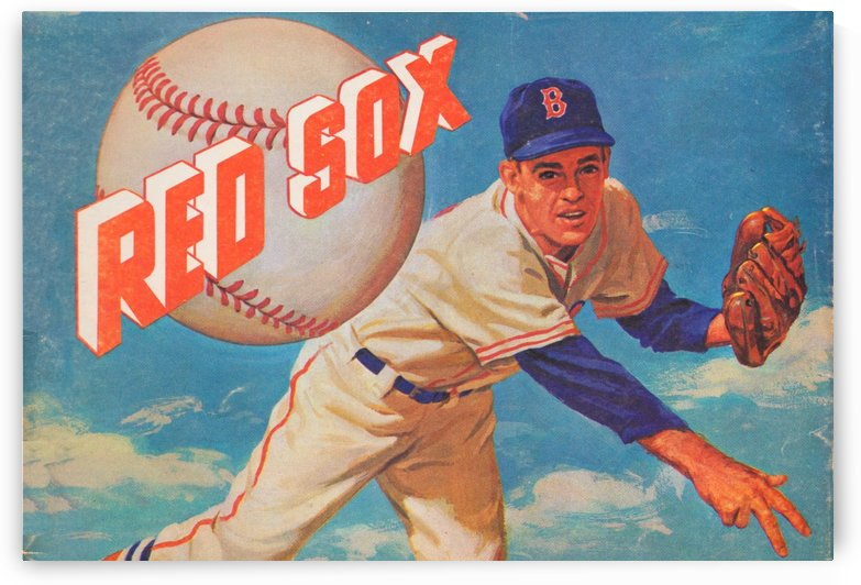 Best Boston Sports Art_Vintage Red Sox Art Poster_Charles M. Kerins artist illustrator_Boston MA by Row One Brand