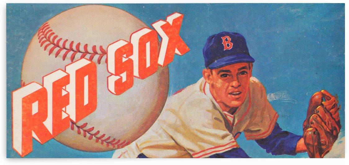 Best Boston Red Sox Art_Vintage Red Sox Art Poster_Charles Kerins artist illustrator_Boston artist by Row One Brand