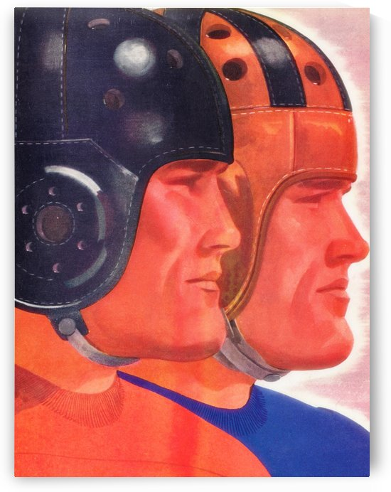 Football Brothers_Vintage Football Helmet Art_Row One Brand Vintage Sports Posters by Row One Brand