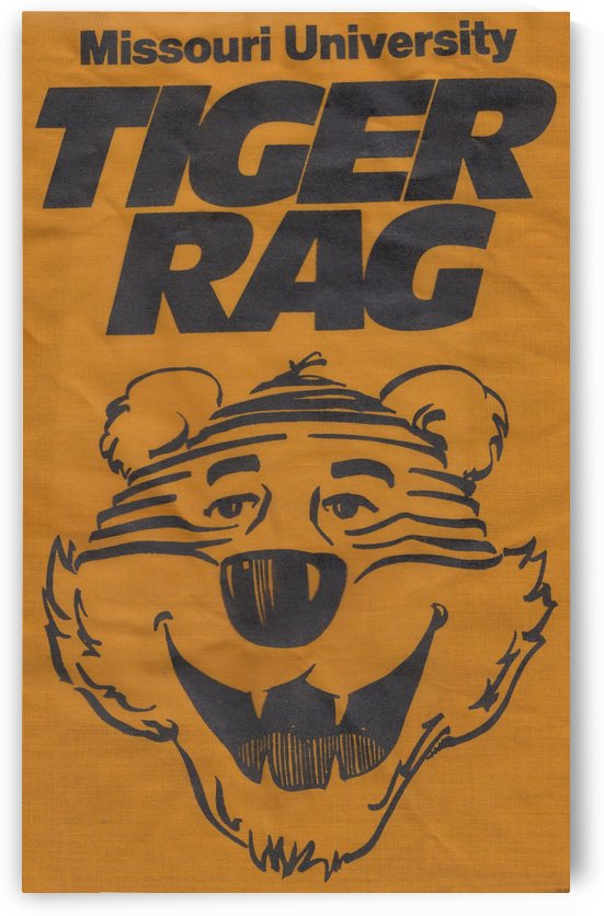 Missouri University Tiger Rag_Vintage Cartoon Tiger by Row One Brand