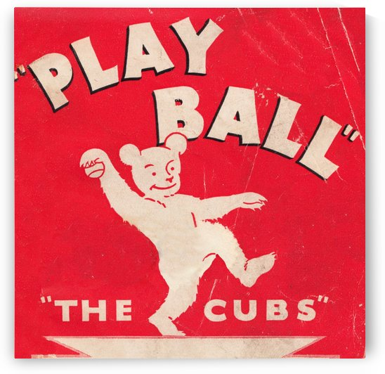 Chicago Cubs Play Ball Art (1934) by Row One Brand