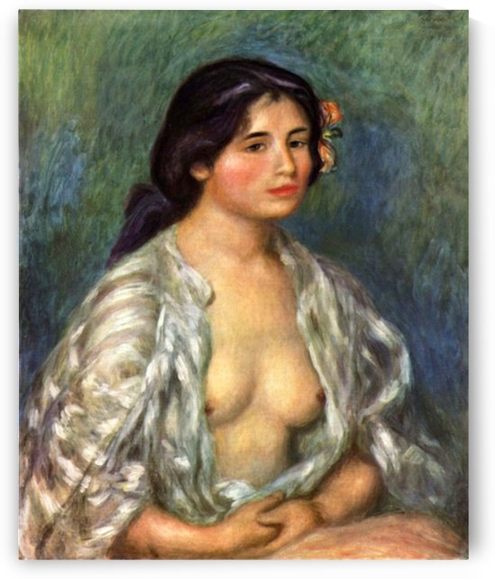 Gabrielle with open blouse by Renoir by Renoir