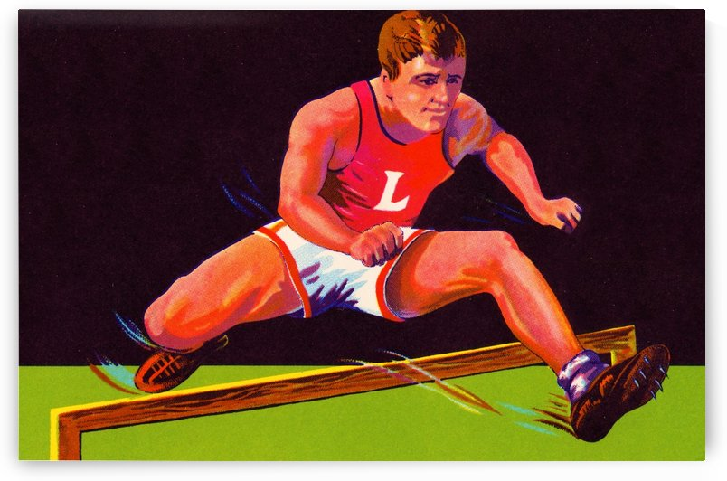 Vintage Track Star Art by Row One Brand