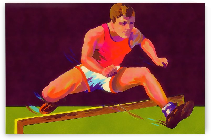 Track and Field Hurdler Poster by Row One Brand