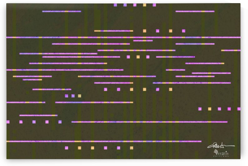 Data Stream in Fuschia & Umber 3x2 by Veratis Editions