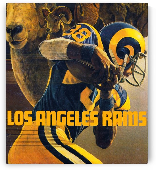 Los Angeles Rams Retro Football Poster_Unique LA Rams Gift Ideas by Row One Brand