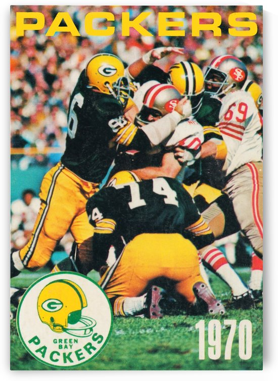 Green Bay Packers Football Poster Row One Brand Sports Art by Row One Brand