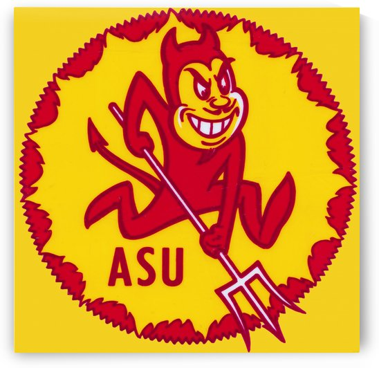 1965 Arizona State University Reproduction ASU Poster by Row One Brand