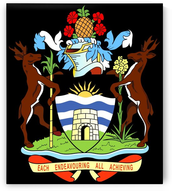 Antigua and Barbuda Coat of Arms by Fun With Flags