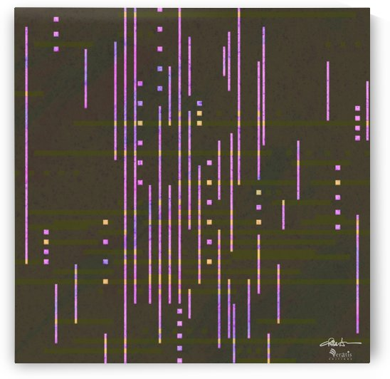 Data Drops in Fuschia & Umber 1x1 by Veratis Editions