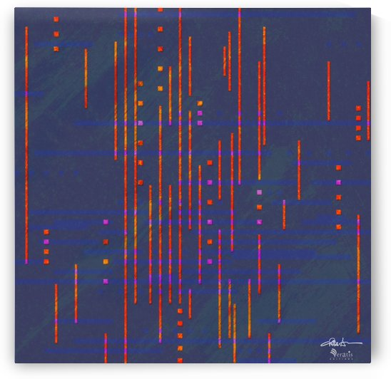 Data Drops in Red & Blue 1x1 by Veratis Editions