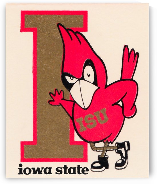 Vintage Iowa State University Cyclone Poster (1) by Row One Brand