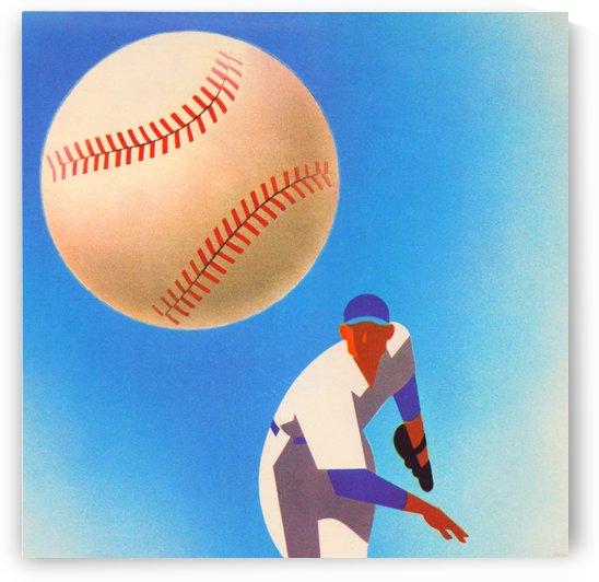 Fast Ball_Vintage Baseball Art Poster_Fine Art Sports Print by Row One Brand