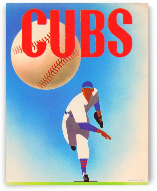 Cubs Art by Row One Brand