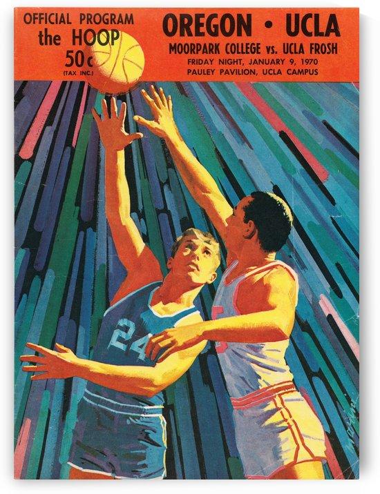 1970 UCLA Bruins Basketball Program Cover Art_Oregon vs. UCLA Bruins Poster by Row One Brand