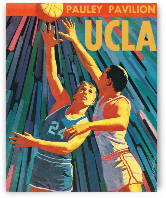 UCLA Bruins Basketball Program Cover Art Remix_College Basketball Art Poster Fine Art Print by Row One Brand