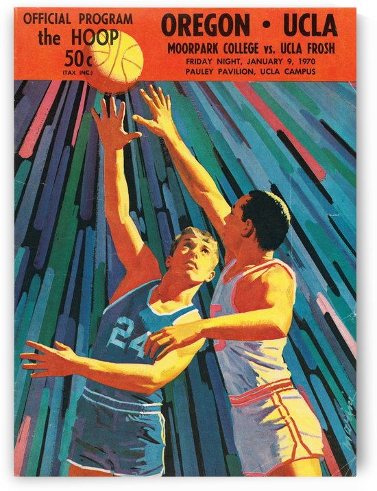 1970 UCLA Bruins Basketball Cover Art by Row One Brand