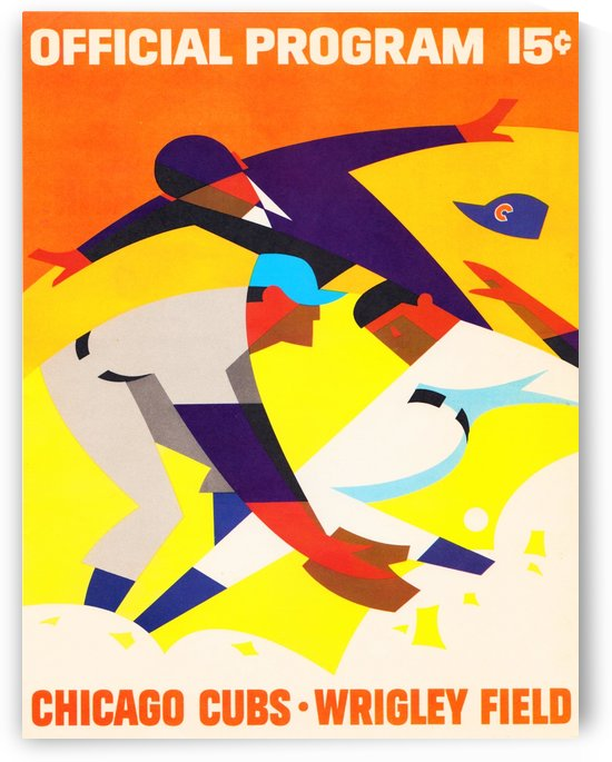 1967ChicagoCubsWrigleyFieldProgramPoster_VintageCubsArt by Row One Brand