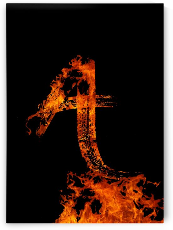 Burning on Fire Letter A by Artistic Paradigms