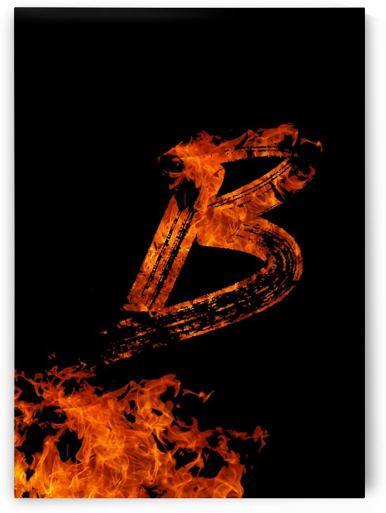 Burning on Fire Letter B by Artistic Paradigms