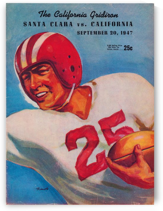 1947 Santa Clara vs. Cal Bears by Row One Brand