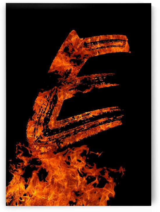 Burning on Fire Letter E by Artistic Paradigms