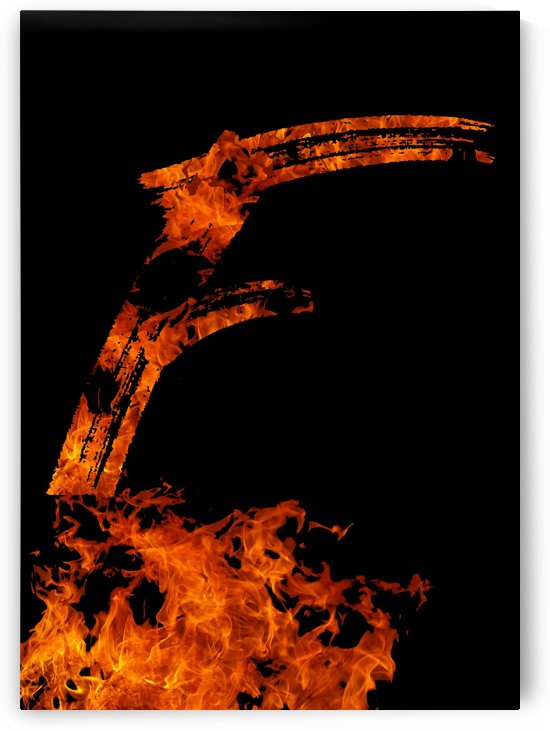 Burning on Fire Letter F by Artistic Paradigms