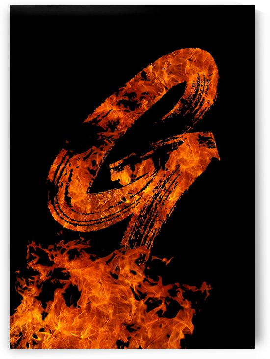 Burning on Fire Letter G by Artistic Paradigms