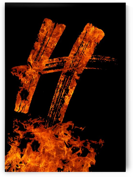 Burning on Fire Letter H by Artistic Paradigms