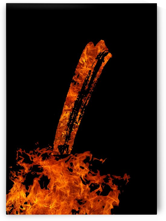 Burning on Fire Letter I by Artistic Paradigms