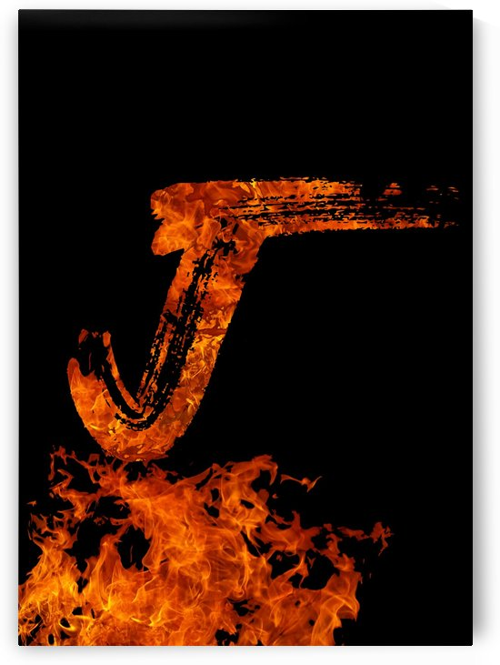 Burning on Fire Letter J by Artistic Paradigms