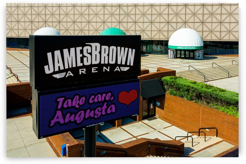 James Brown Arena Sign Augusta GA Aerial View 0740 by @ThePhotourist