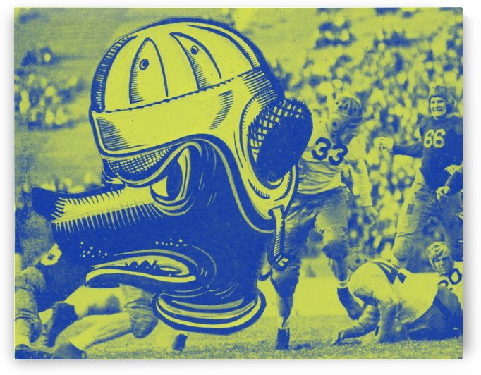 cal bears art vintage college football art poster 1940s cartoon sports poster by Row One Brand