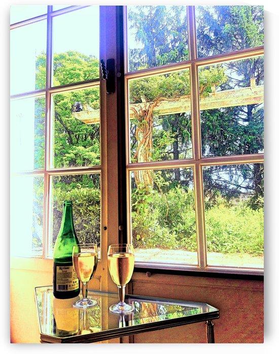 France Wine Window big by Gina Lafont