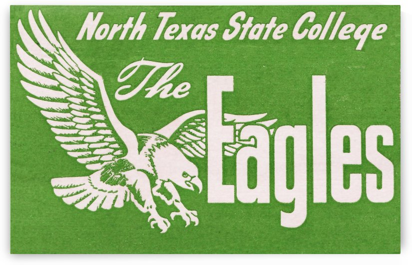 north texas state college unt eagles vintage poster college art collection by Row One Brand