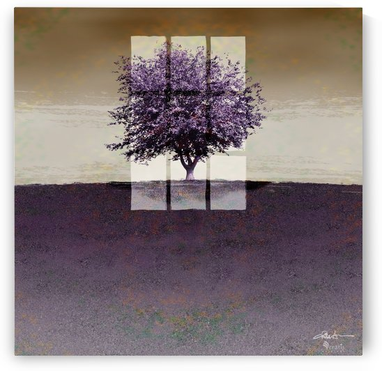 Window on a Purple Tree 1x1 by Veratis Editions