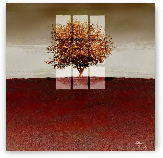 Window on a Sienna Tree 1x1 by Veratis Editions