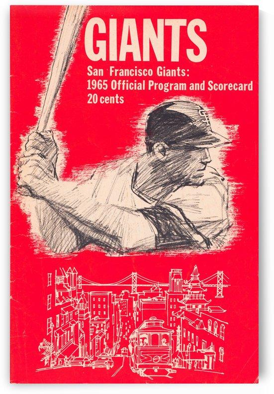 1965 san francisco giants program baseball scorecard poster by Row One Brand