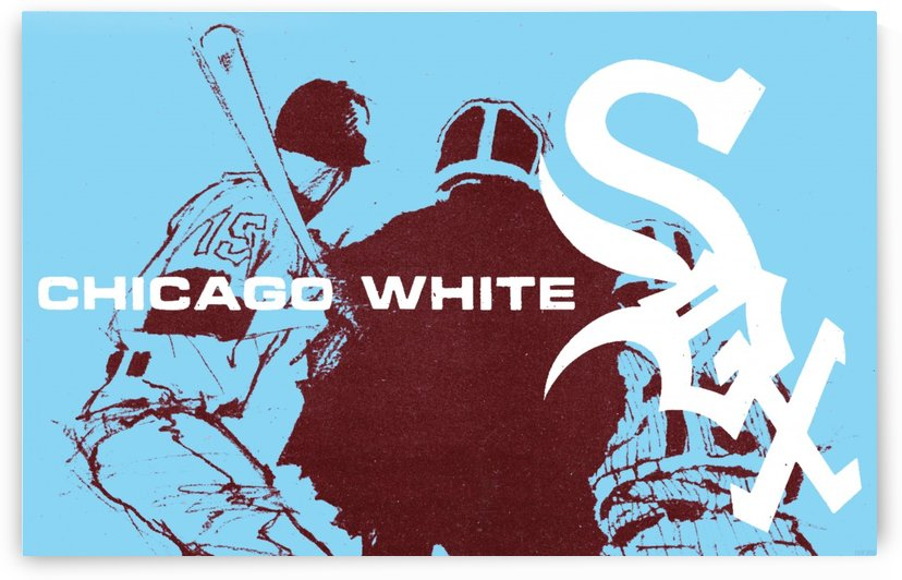 ChicagoWhiteSoxPoster_CheapBaseballPosters_UniqueChicagoGiftIdeas by Row One Brand