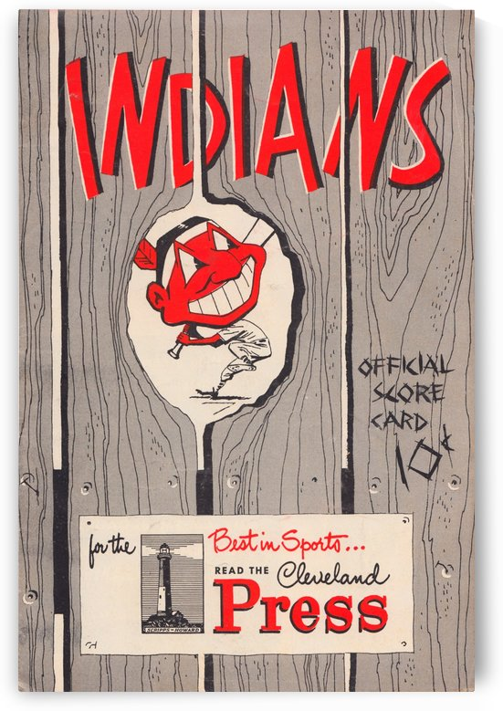 cleveland indians score card 1951 by Row One Brand