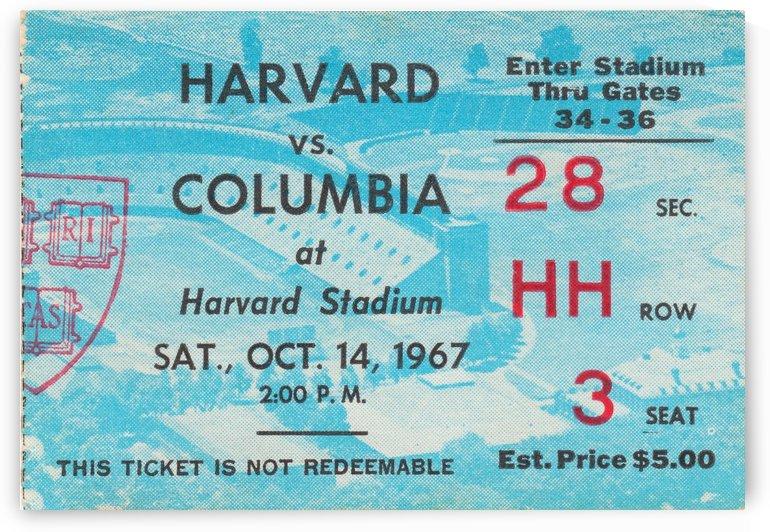 1967 Harvard vs. Columbia by Row One Brand