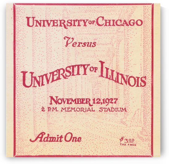 1927 Chicago vs. Illinois  by Row One Brand