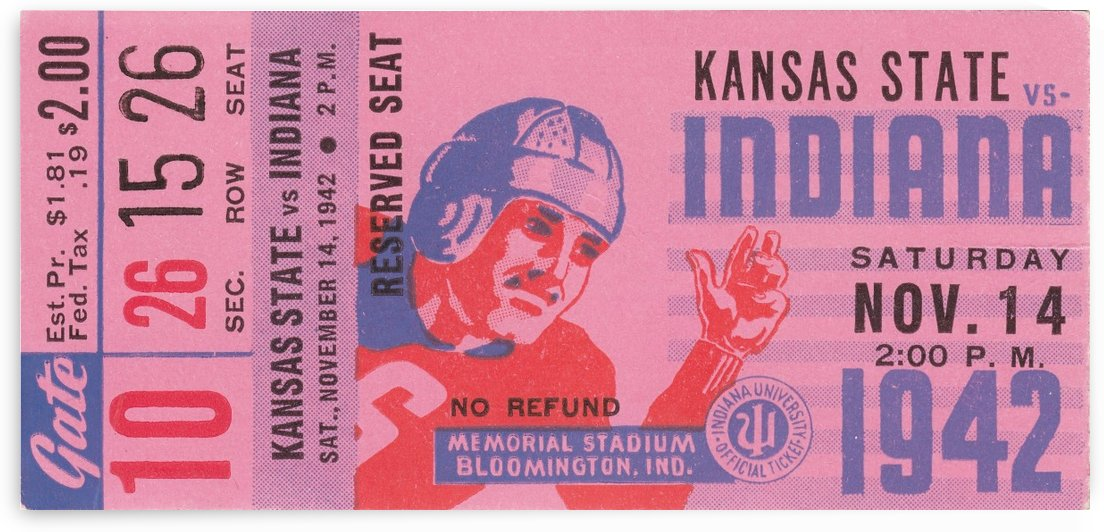 1942 Indiana vs. Kansas State by Row One Brand