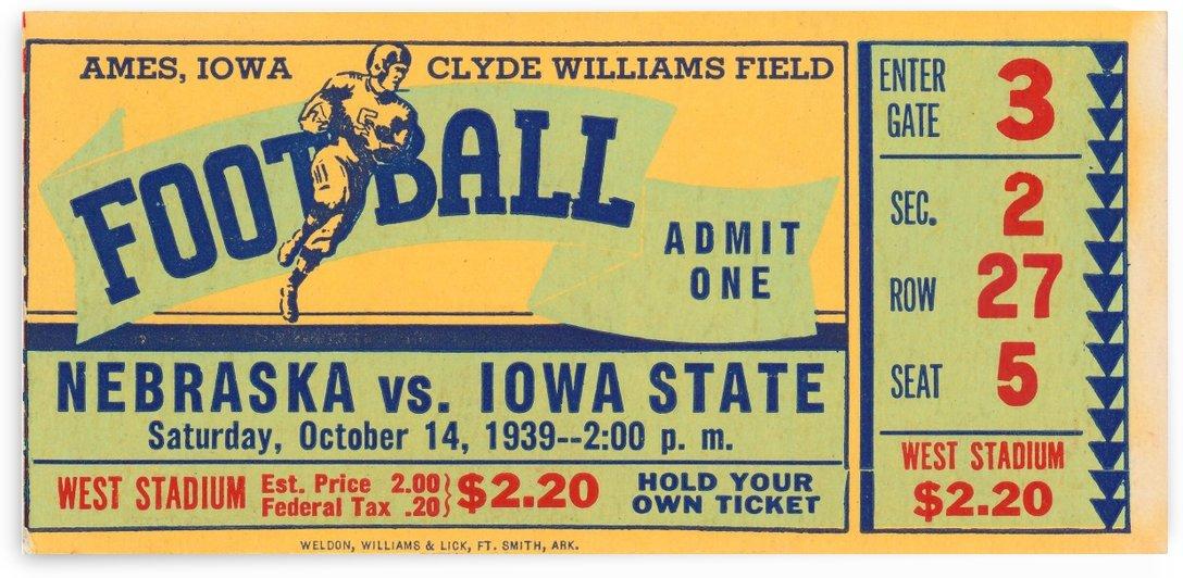 1939 Iowa State vs. Nebraska by Row One Brand