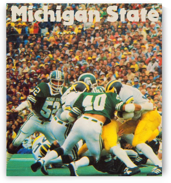 Retro_College_Football_Poster_Remix_Michigan_State_Spartans_Row_One_Brand_Vintage_Poster by Row One Brand