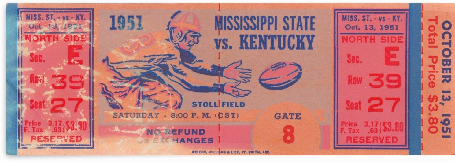 1951_College_Football_Kentuckyvs.MississippiState_StollField_Full_Ticket_Stubs_Untorn by Row One Brand