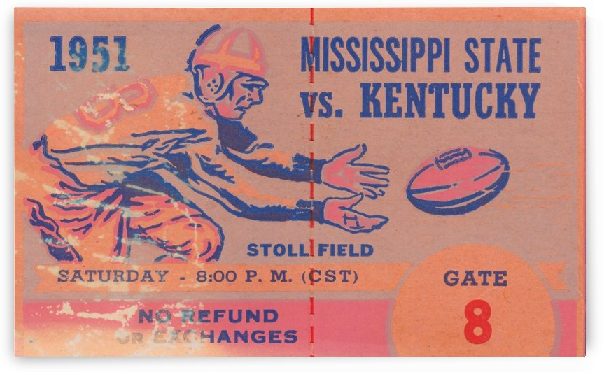 College_Football_Art_Kentucky_Wildcats_Mississippi_State_Stoll_Field_UK_Football_Art by Row One Brand