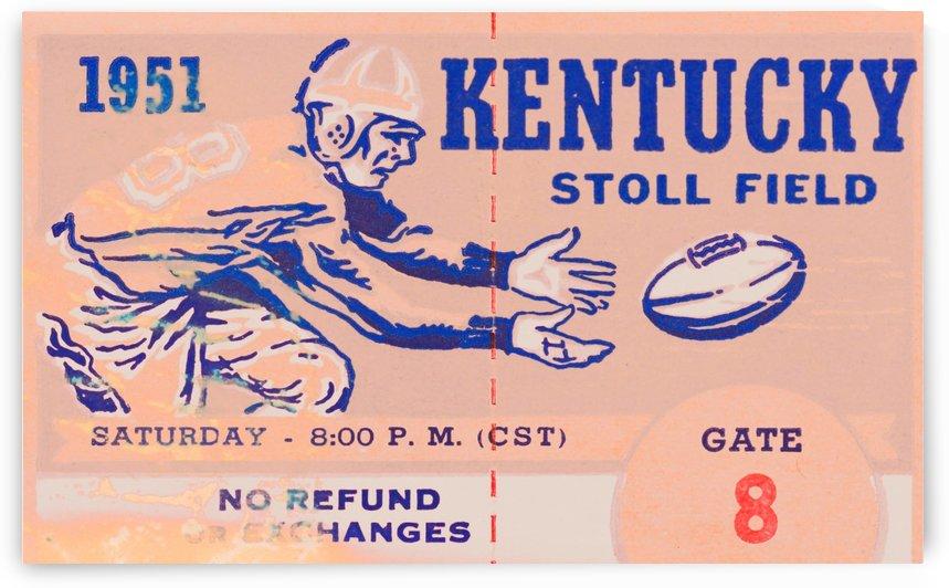 Football_Ticket_Stub_Art_Kentucky_Wildcats_Stoll_Field_Retro_Remix_Sports_Art by Row One Brand